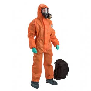 CBRN Suit Kit Hi Viz Coverall Black Gasmask - Urban Survivor
